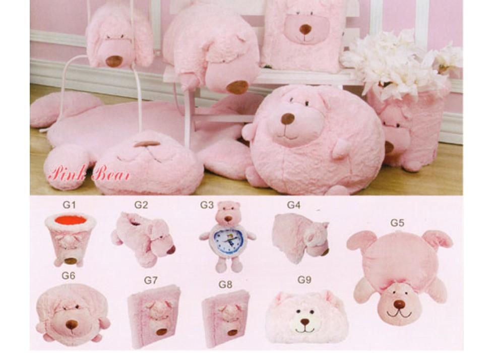 ست پولیشی سیسمونی و اتاق کودک مدل خرس Pink Bear