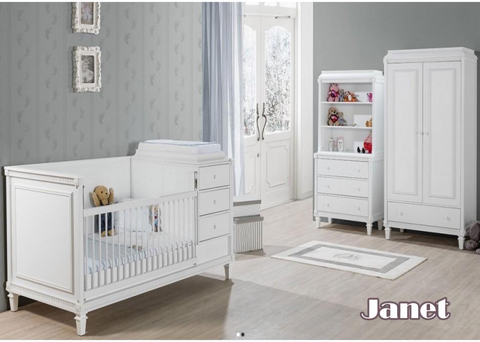 سرویس تخت و کمد نوزاد مدل جانت