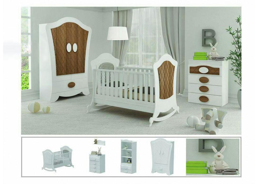 سرویس تخت و کمد نوزادمدل Wood