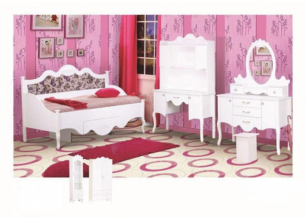 سرویس تخت و کمد 5 تکه نوجوان مدل پارادایس