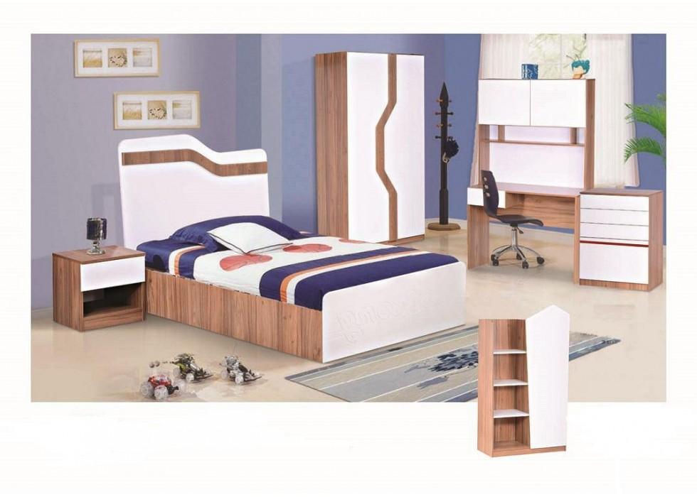 سرویس تخت و کمد 5 تکه نوجوان مدل استرانگ