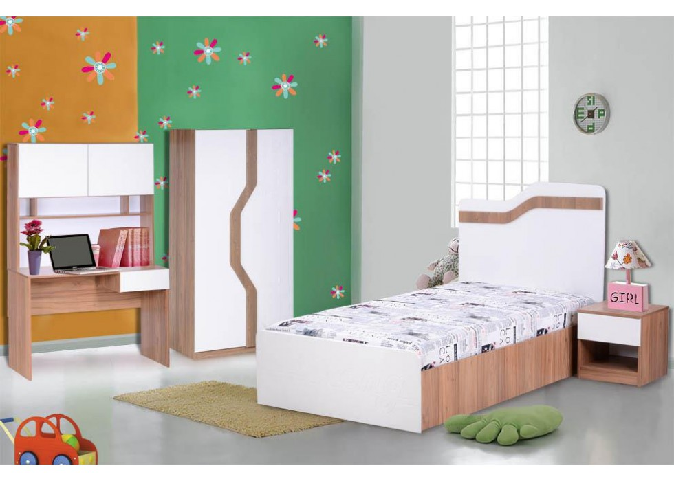 سرویس تخت و کمد 4 تکه نوجوان مدل استرانگ