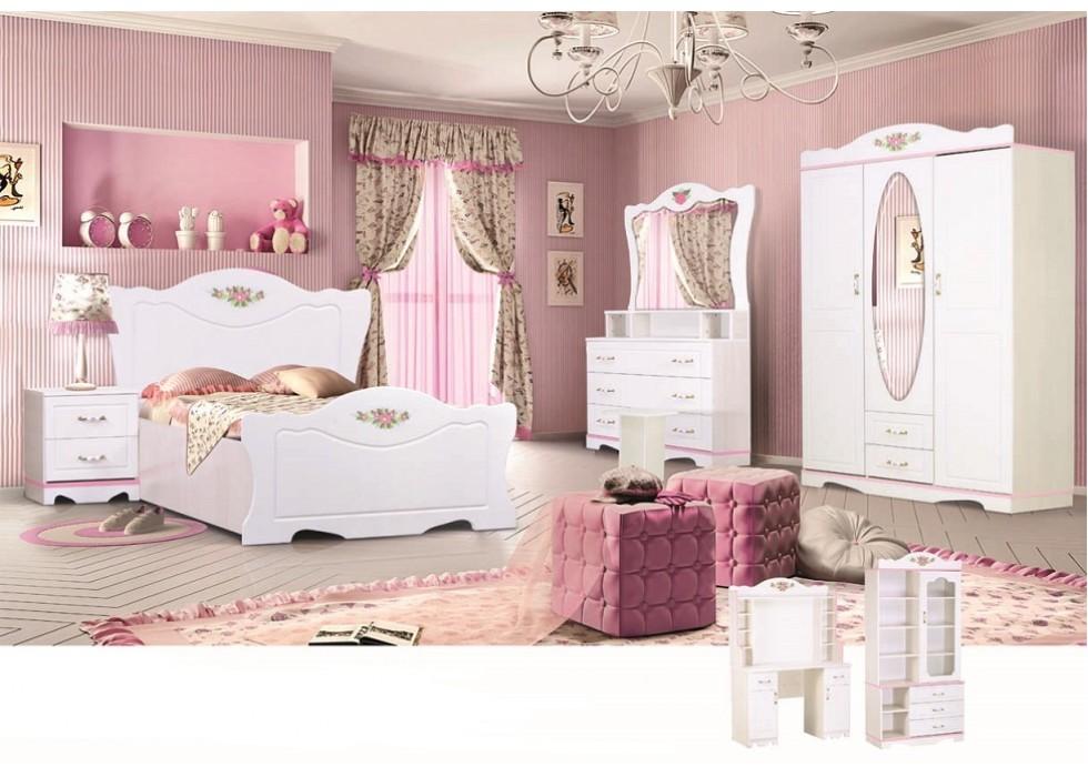 سرویس تخت و کمد 6 تکه نوجوان مدل پرنس
