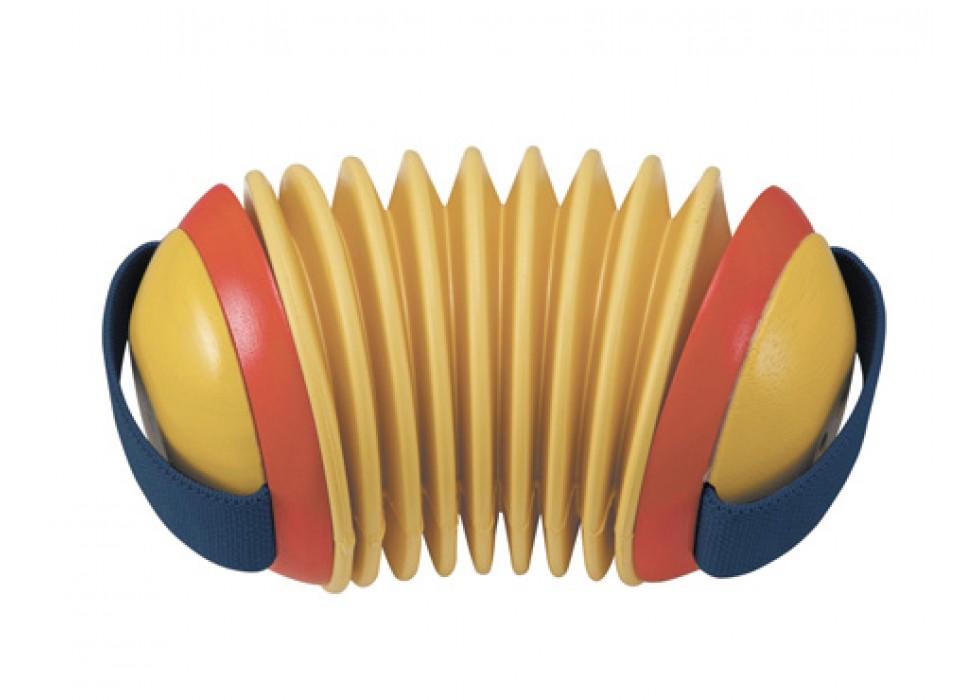 آکاردئون  پلن تویز  plan toys _ چوبی  زرد دسته سورمه ای کد 6401