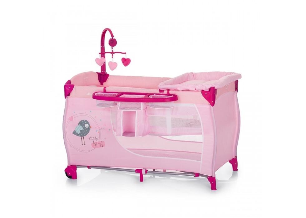 تخت و پارک بازی هاوک Hauck مدل Baby Center Birdie - کد 607565