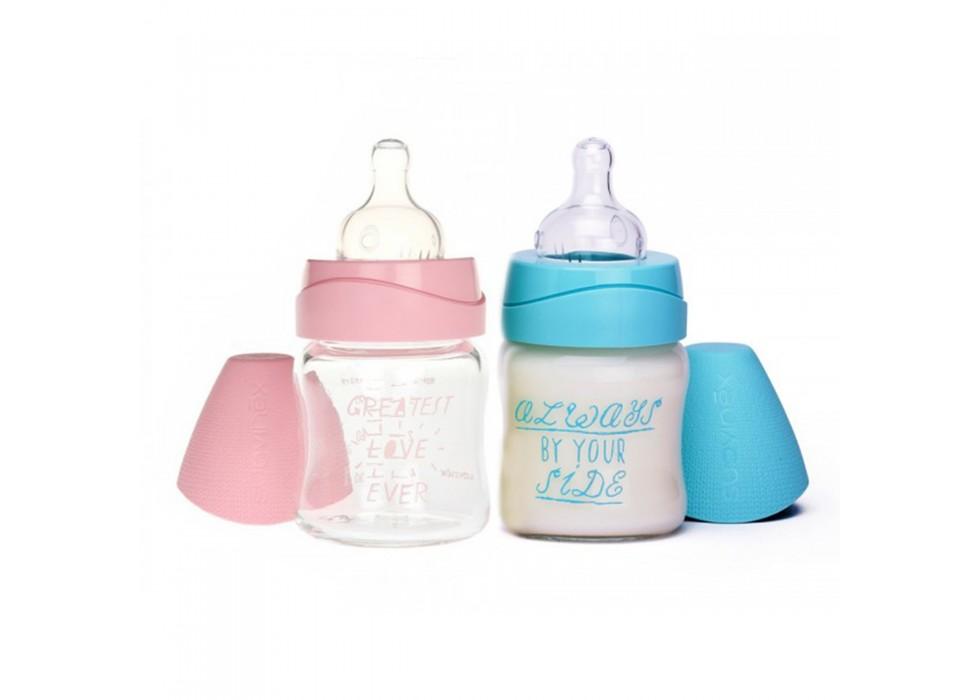 شیشه شیر 120 میل  0 تا 6 ماه  برند سواوینکس suavinex - کد 3800993