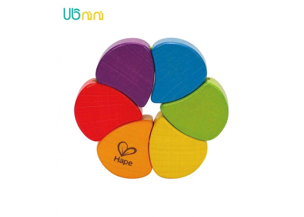 جغجغه چوبی هاپه-Hape مدل Happy Rainbow Rattle