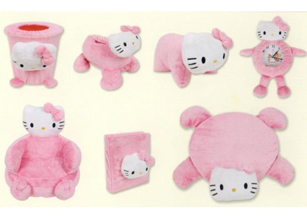 ست 7 تکه پولیشی اتاق کودک مدل هلو کیتی Hello Kitty