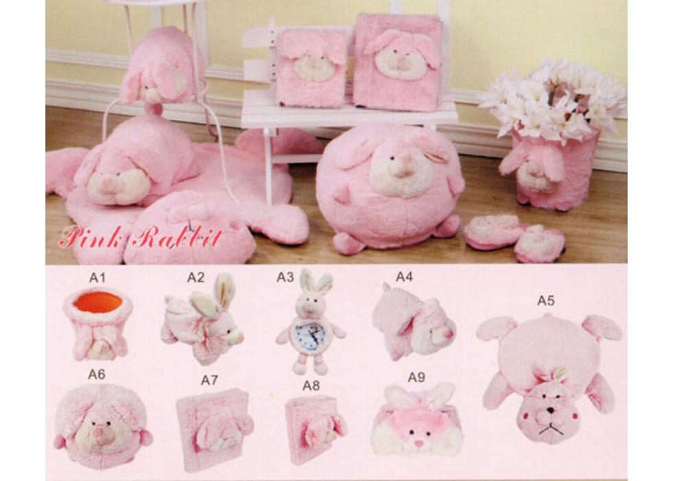ست پولیشی سیسمونی و اتاق کودک مدل خرگوش Pink Rabbit |