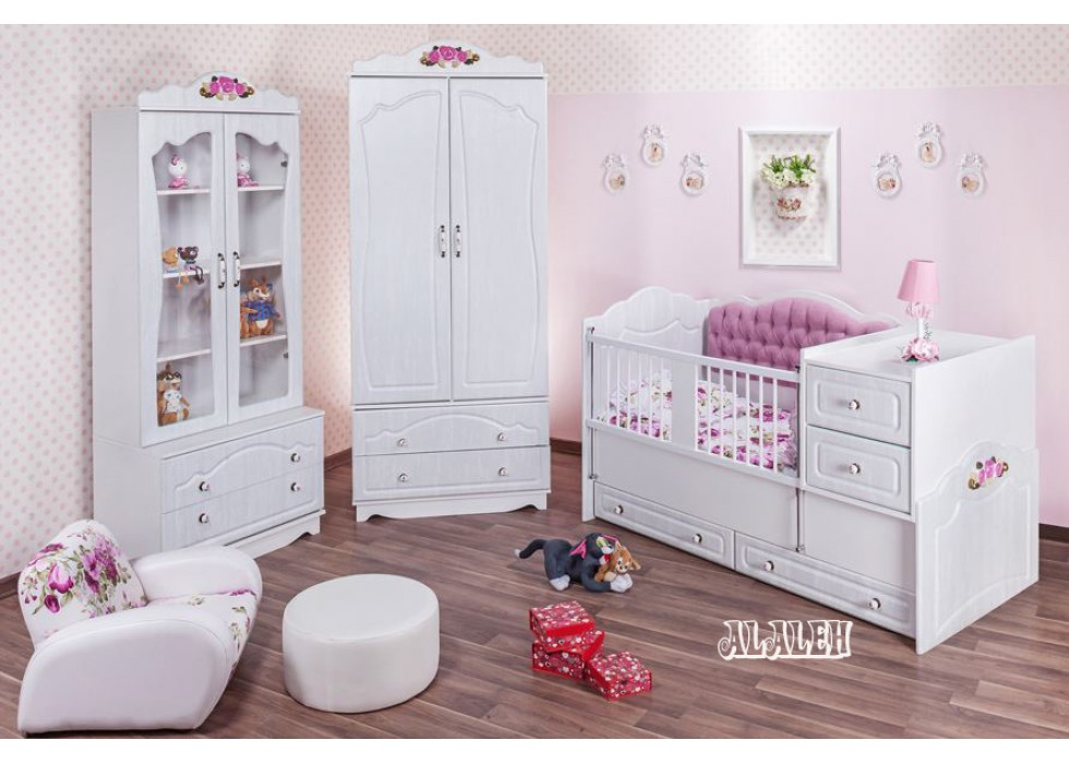 سرویس تخت و کمد نوزاد نوجوان مدل آلاله |