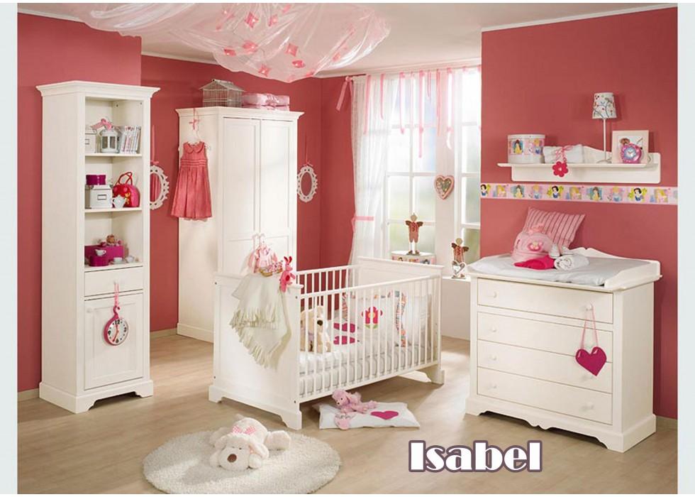سرویس تخت و کمد نوزاد مدل ایزابل
