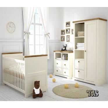 سرویس تخت و کمد نوزاد مدل یاس