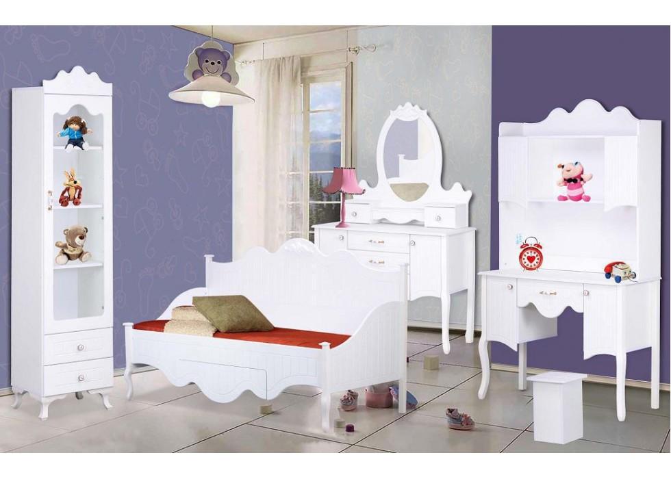 سرویس تخت و کمد 4 تکه نوجوان مدل پارادایس