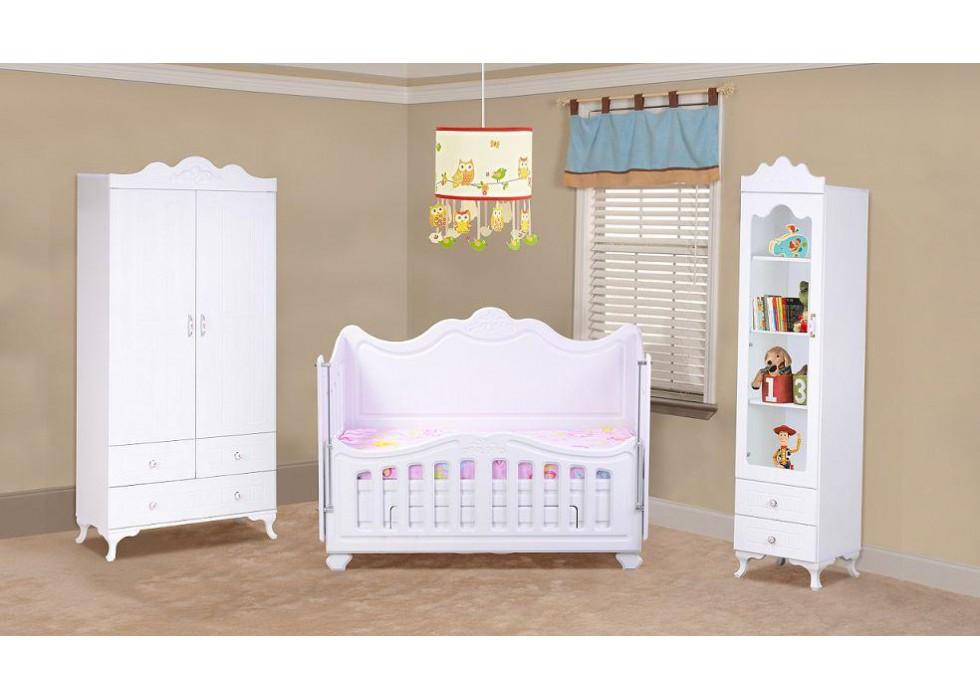 سرویس تخت و کمد نوزاد مدل پارادایس