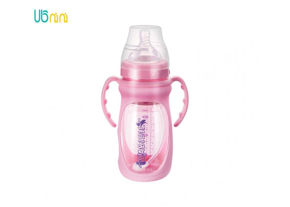 شیشه شیر پیرکس پهن 270ml بی بی سیل-Babisil کد 5068