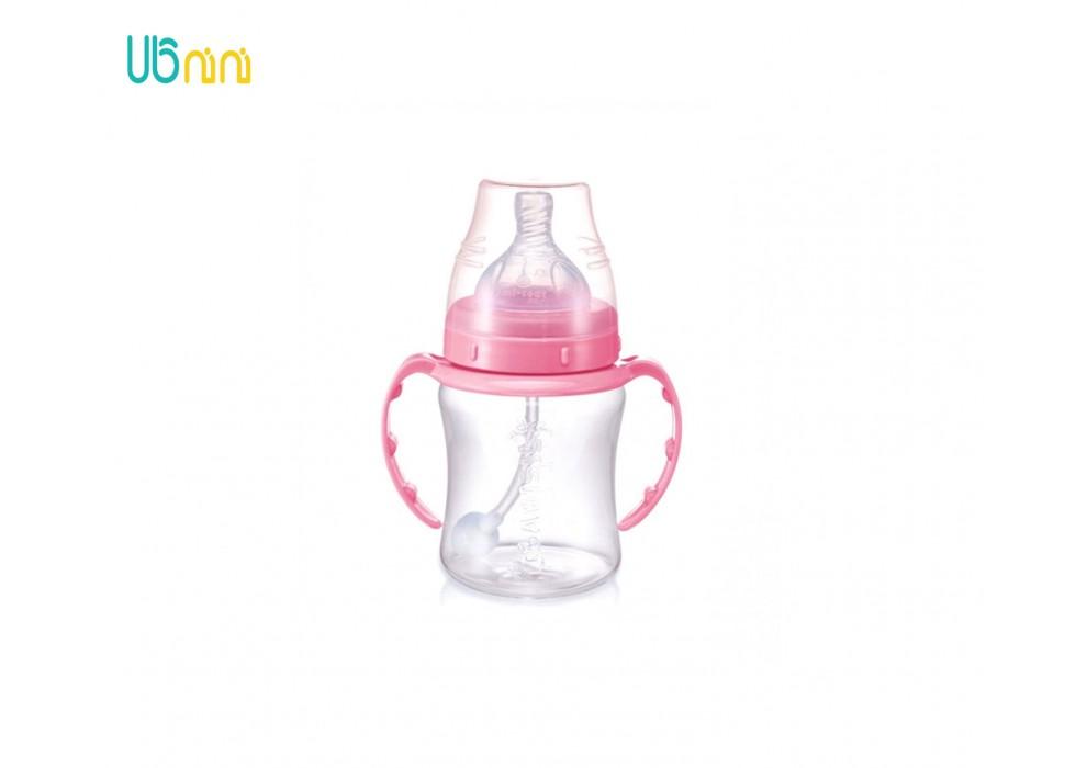 شیشه شیر 180ml PP  دسته دار  بی بی سیل-Babisil کد 4698