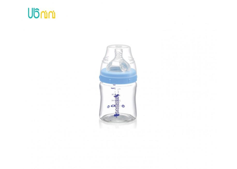 شیشه شیر پیرکس پهن 120ml بی بی سیل-Babisil کد 4417