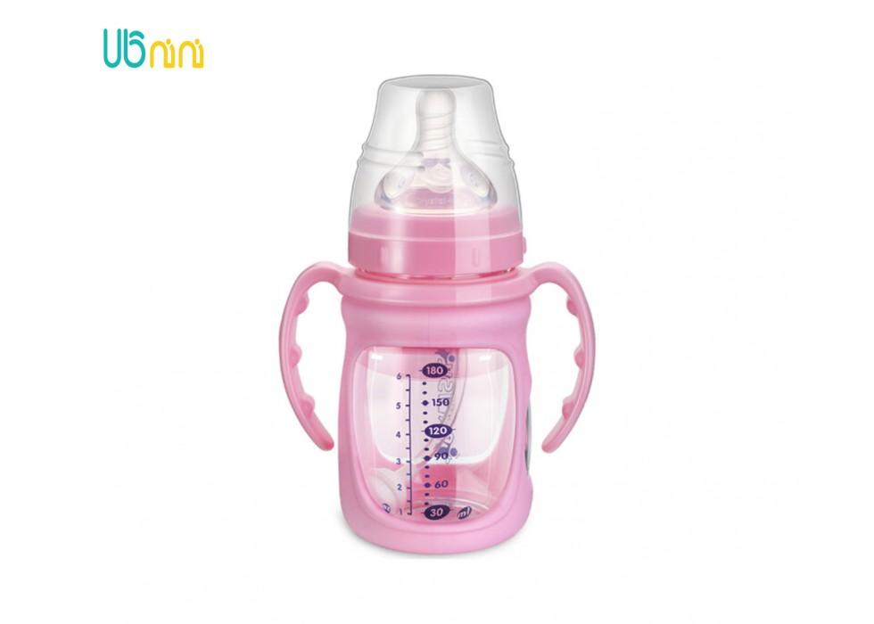 شیشه شیر پیرکس پهن 180ml بی بی سیل-Babisil کد 5066