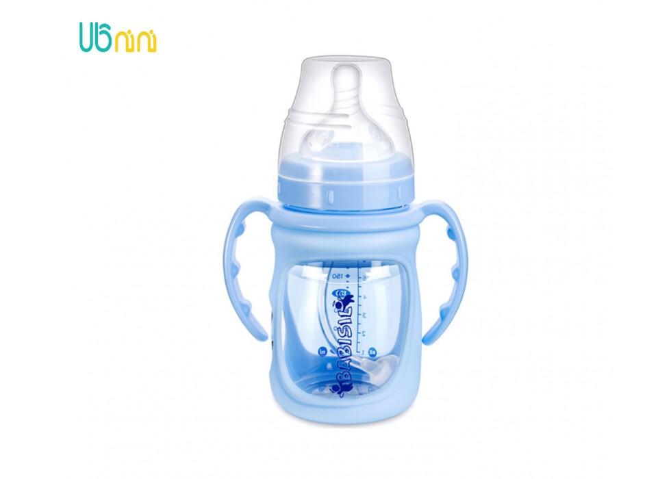 شیشه شیر پیرکس پهن 180ml بی بی سیل-Babisil کد 5067