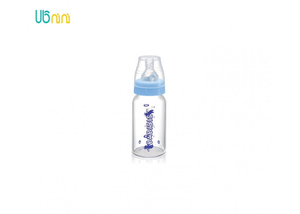 شیشه شیر پیرکس پهن 240ml بی بی سیل-Babisil کد 4419