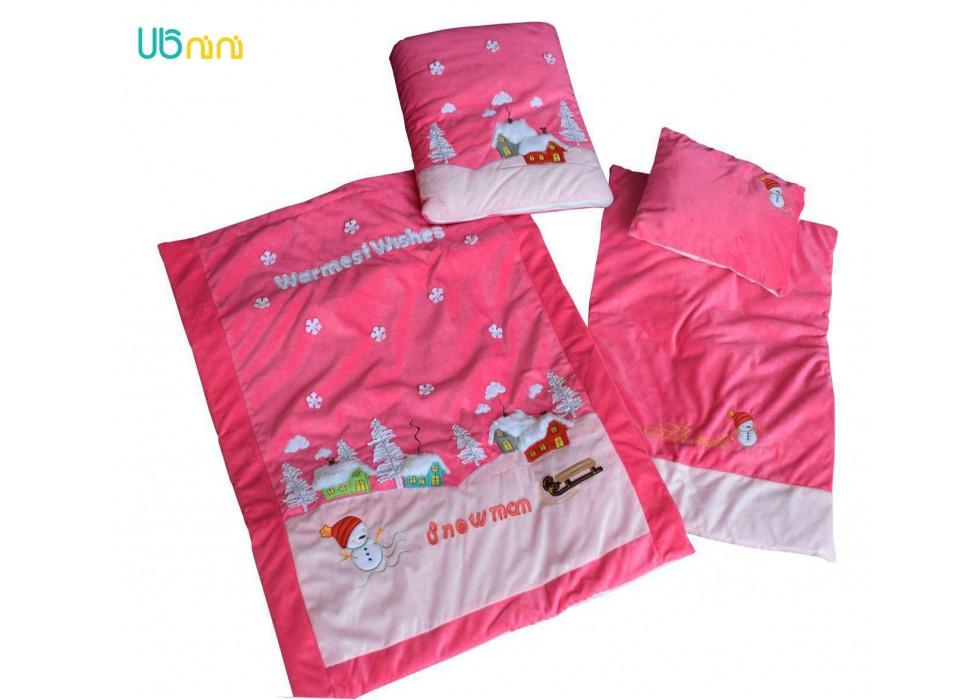 سرویس خواب نوزاد شادی-Shadi طرح آدم برفی سرخ آبی