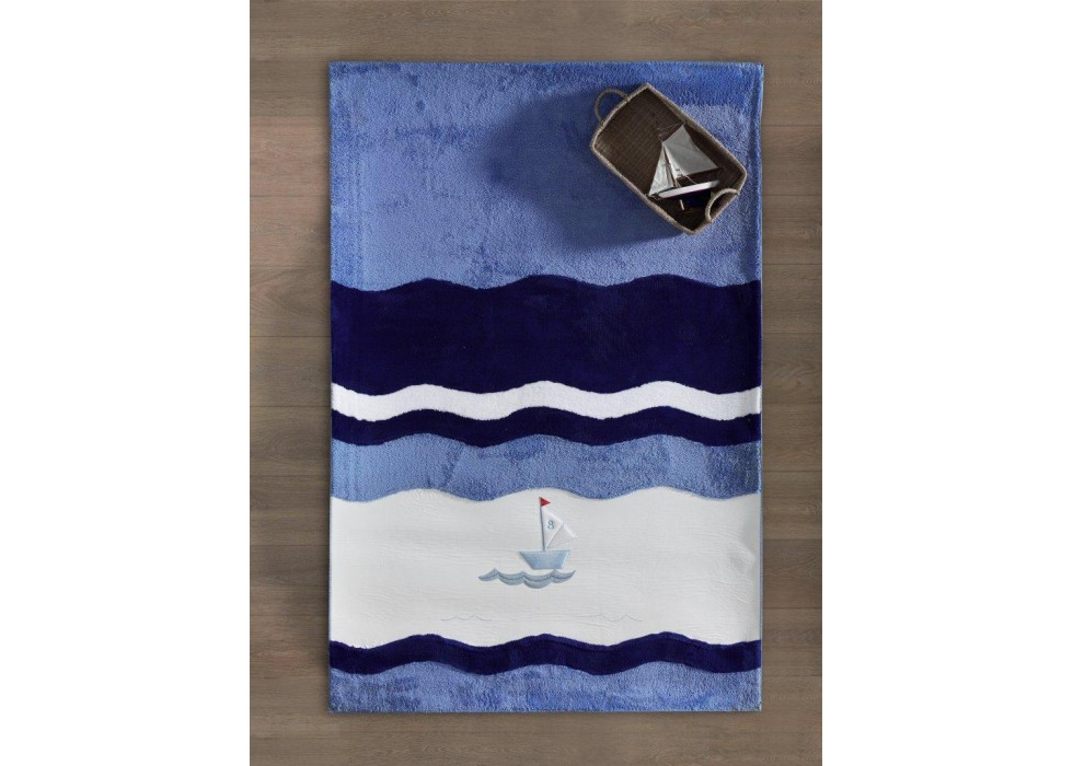 فرش اتاق کودک کیدبو-KidBoo مدل Blue Marine