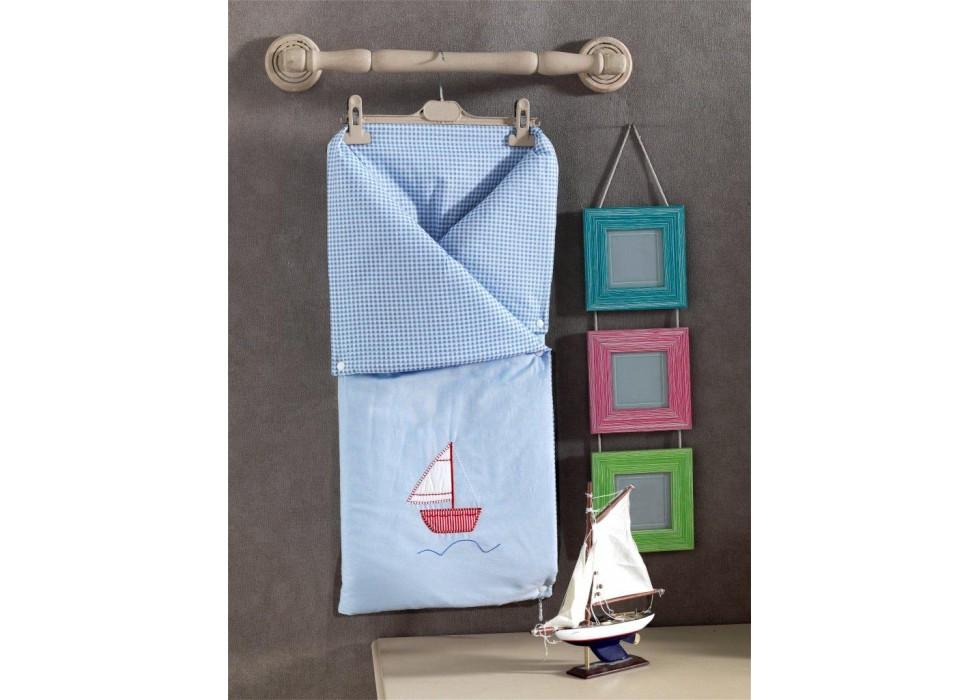 پتو قنداق دو کاره نوزاد کیدبو-KidBoo مدل Blue Marine