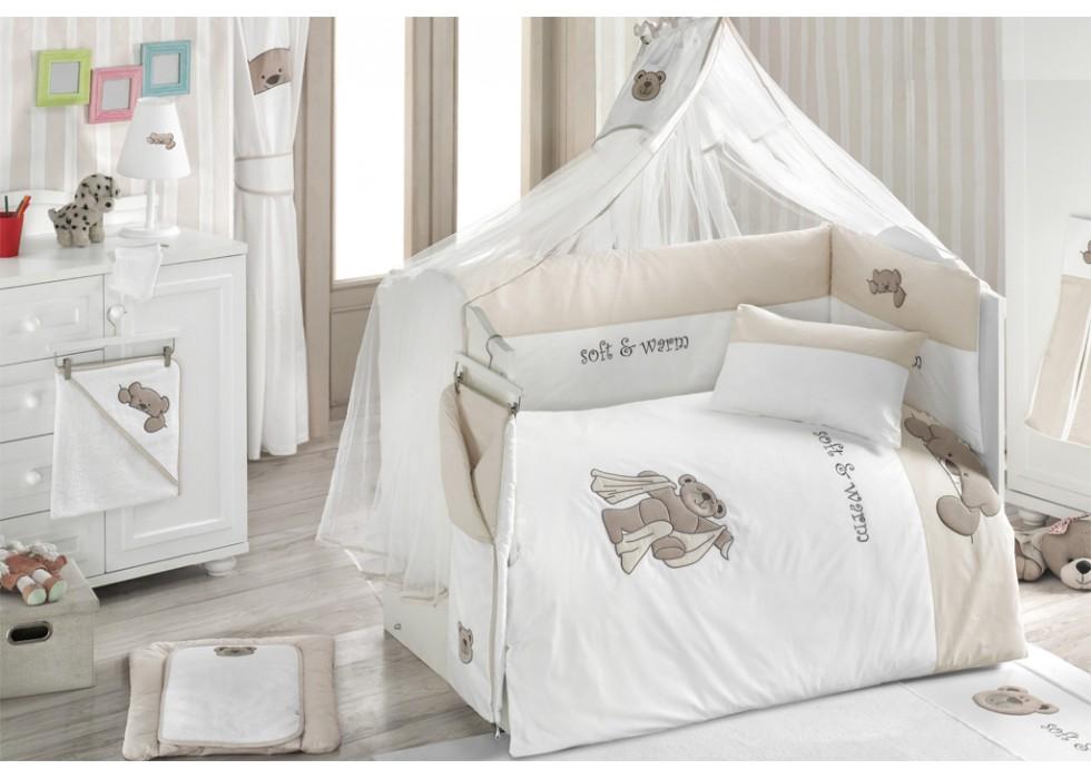 تور و آپارات بالای تخت نوزاد کیدبو-KidBoo مدل Teddy Bobo