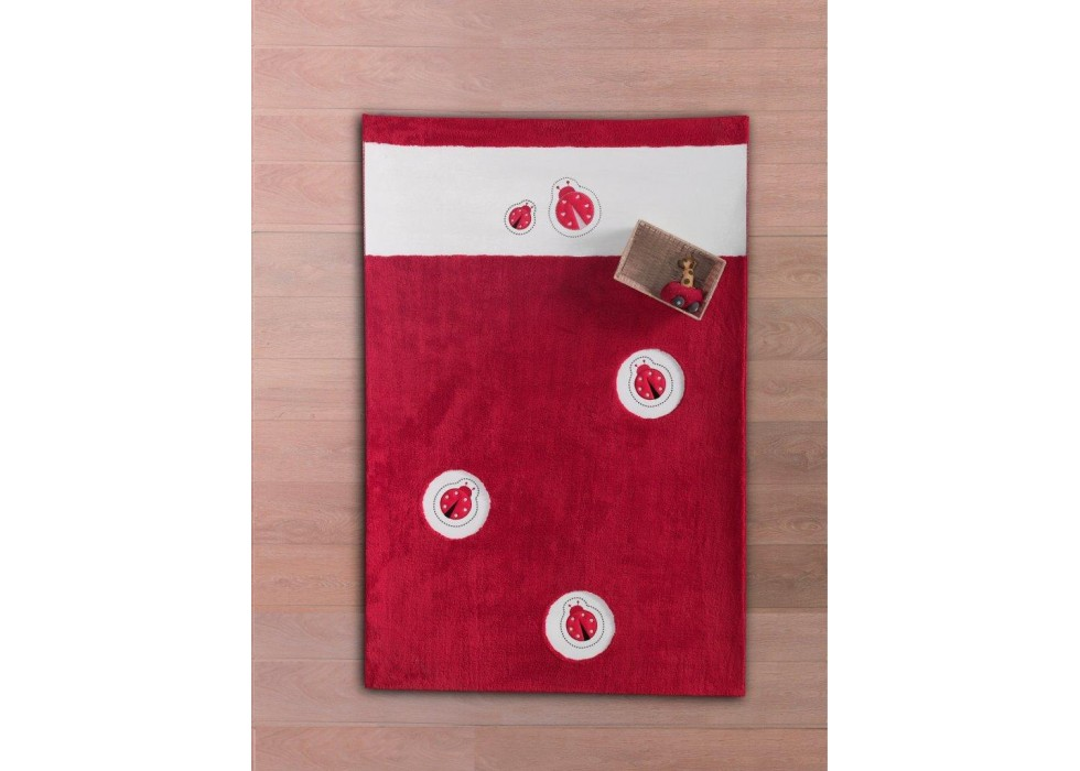 فرش اتاق کودک کیدبو-KidBoo مدل Ladybug