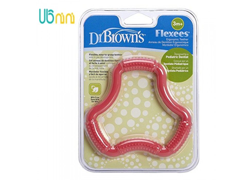 دندانگیر دکتر براونز-Dr.Brown's مدل A-Shaped Flexees صورتی