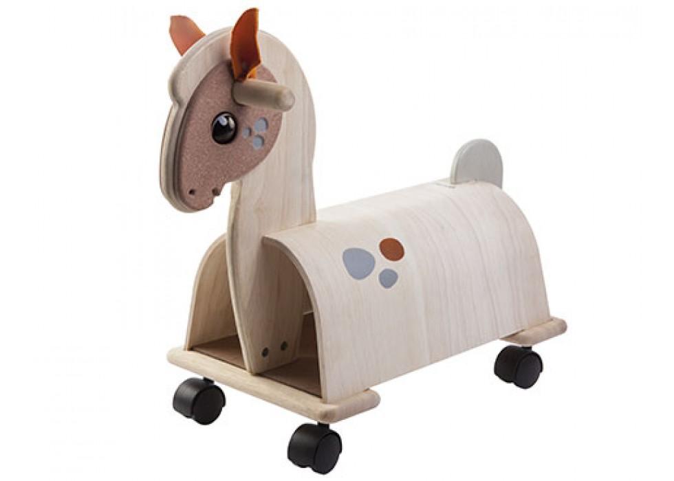 اسب    پلن تویز  planToys _ اسب سفید پا کوتاه