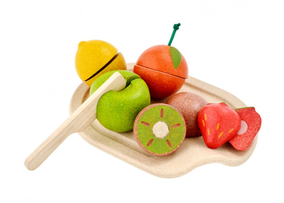 ست میوه همه فن حریف  پلن تویز  plan toys کد 3600
