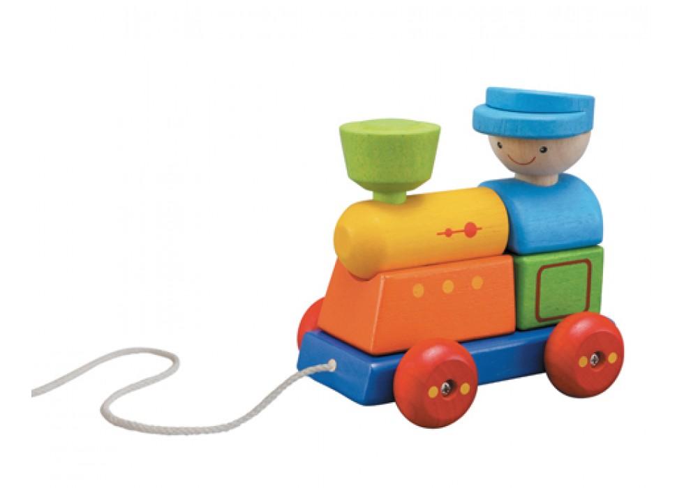 پازل طبقاتی قطار  پلن تویز  plan toys کد 5119