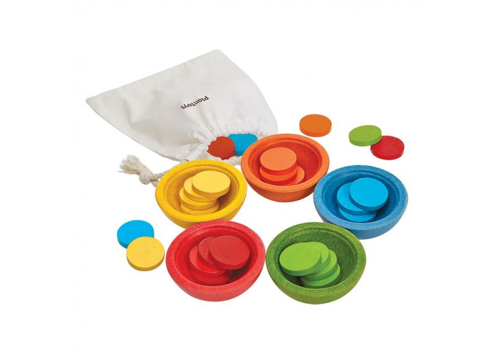 فنجان های شمارشی و طبقه بندی شده  پلن تویز  plan toys