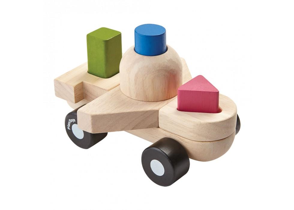 پازل طبقاتی هواپیما  پلن تویز  plan toys کد 5431