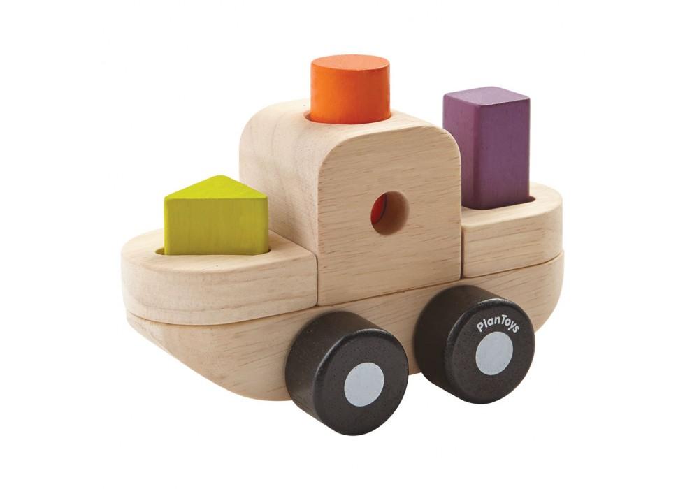پازل طبقاتی قایقی  پلن تویز  plan toys کد 5432