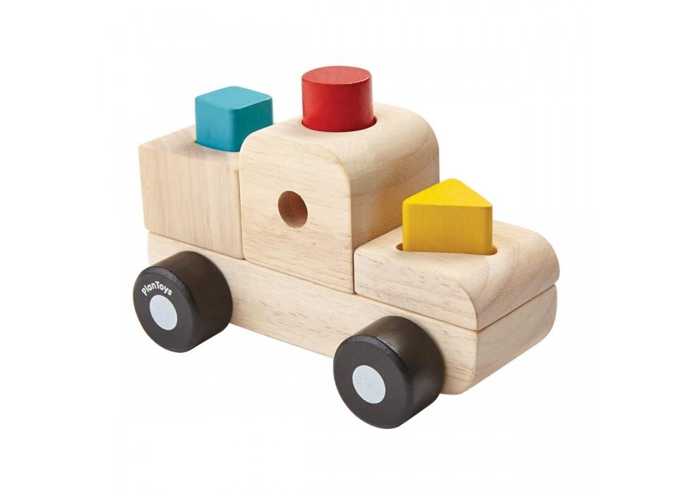 پازل طبقاتی کامیون پلن تویز  plan toys کد 5433