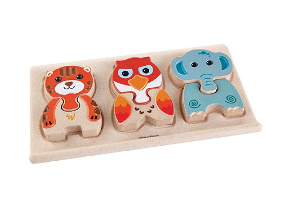 پازل حیوانات_ پلن تویز   plan toys کد 5611