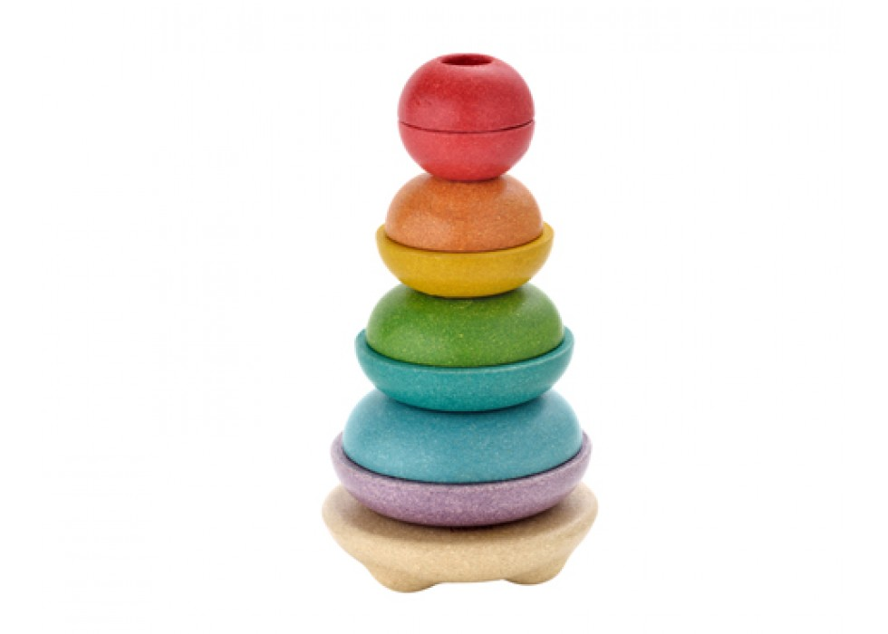 پازل استوانه ای حلقه ای-  جدید  پلن تویز  plan toys