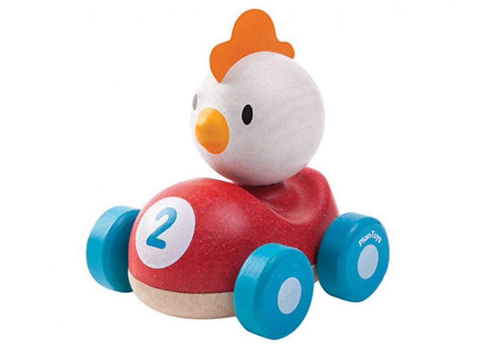 مرغ ماشین سوار  پلن تویز  planToys کد 5679