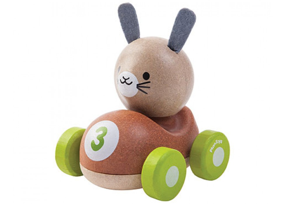 خرگوش ماشین سوار  پلن تویز  planToys کد 5680