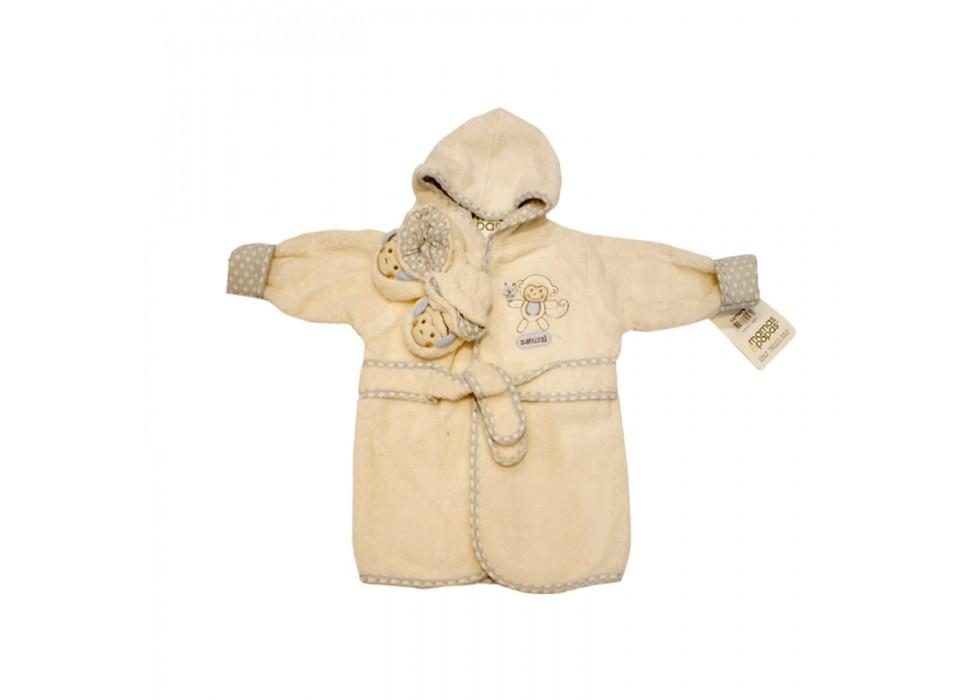 حوله تن پوش با پاپوش ماماز پاپاز طرح میمون mama&papas- کد62517