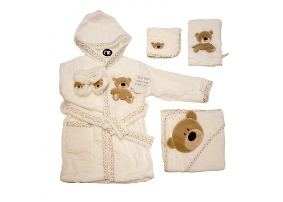 ست حوله ماماز پاپازشش طرح-مدل توری خرس  mamas&papas- کد1000443