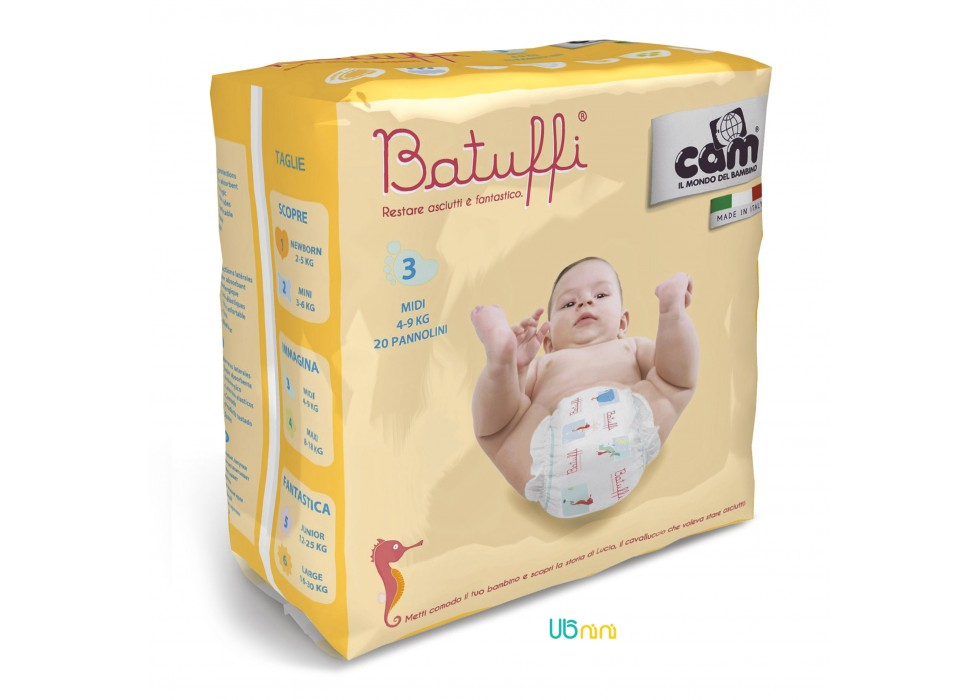پوشک نوزاد کم-Cam  سایز (3) - 4 تا 9 کیلوگرم