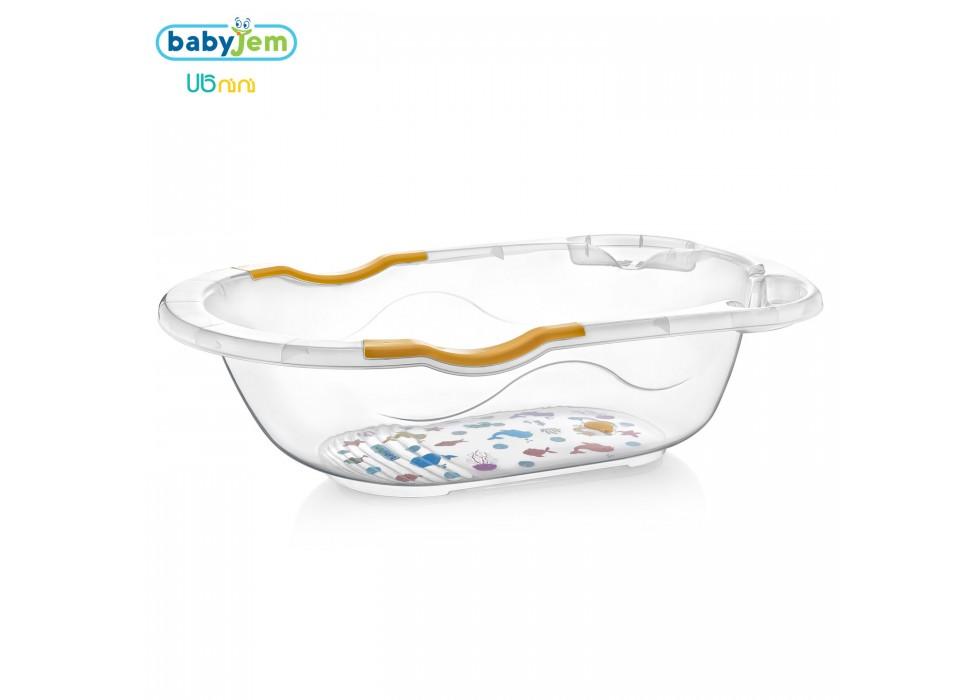 وان حمام نوزاد بی بی جم-BabyJem شفاف طرحدار کد 031