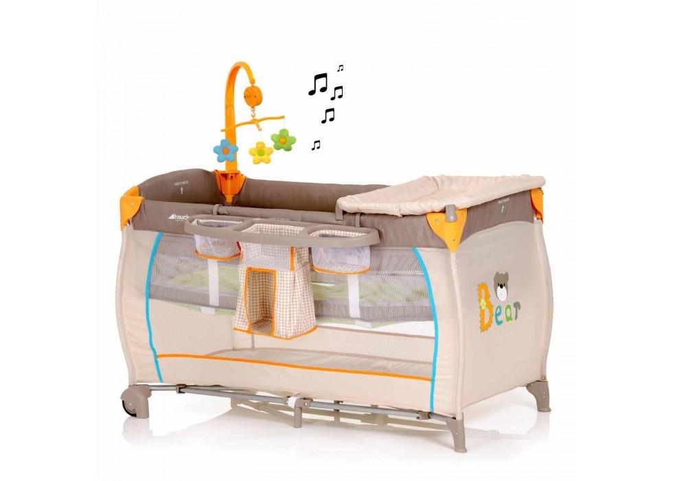 تخت و پارک بازی هاوک Hauck مدل Baby Center Bear - کد 607435