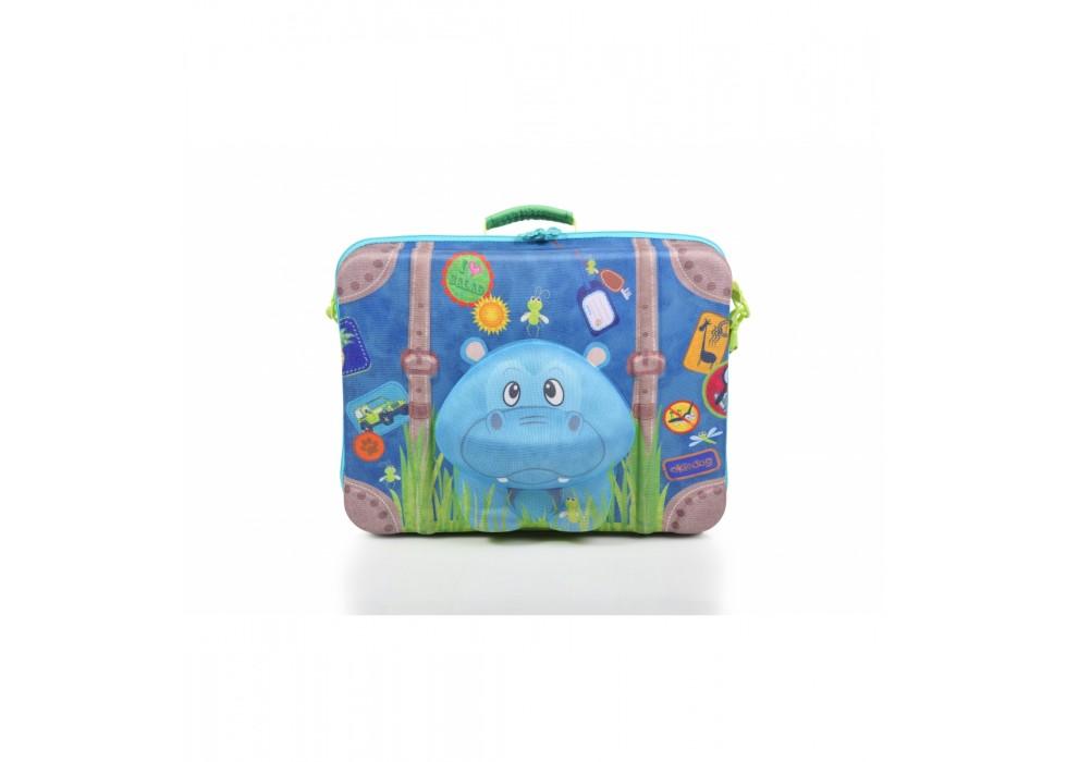 چمدان بی چرخ کودک اوکی داگ OkieDog مدل اسب آبی Hippo - کد 80074