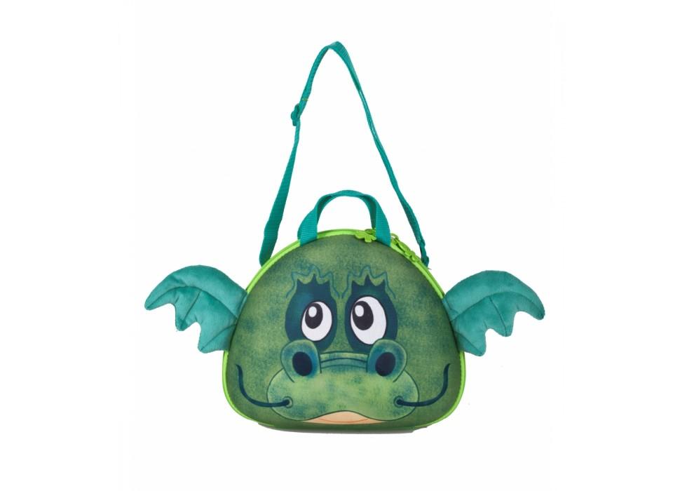 کیف دستی و رودوشی کودک اوکی داگ OkieDog مدل اژدهای سبز Dragon - کد 80019