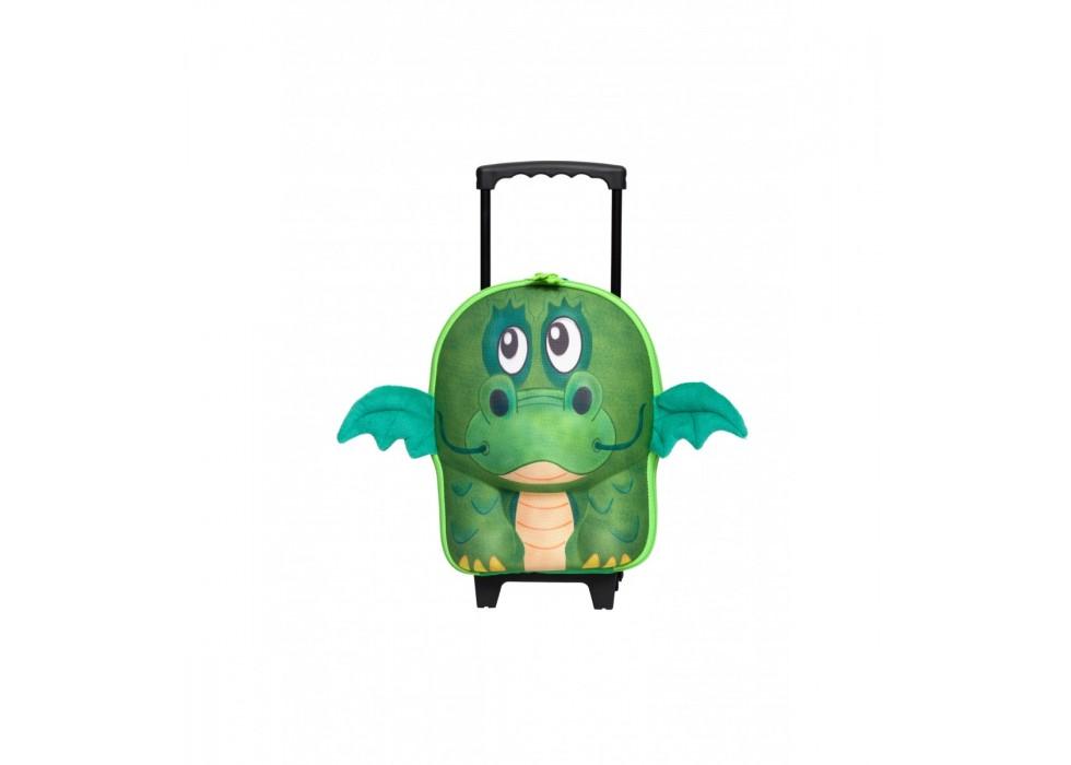 چمدان چرخدار کوچک کودک اوکی داگ OkieDog مدل اژدهای سبز Dragon - کد 80015