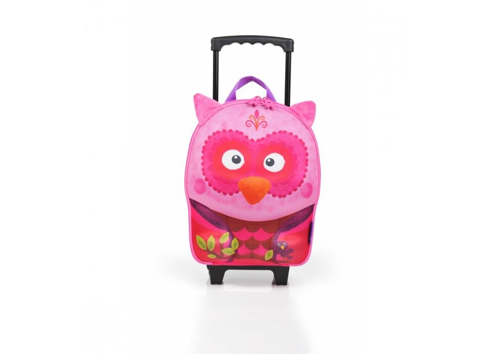 چمدان چرخدار کوچک کودک اوکی داگ OkieDog مدل جغد Owl - کد 80077  